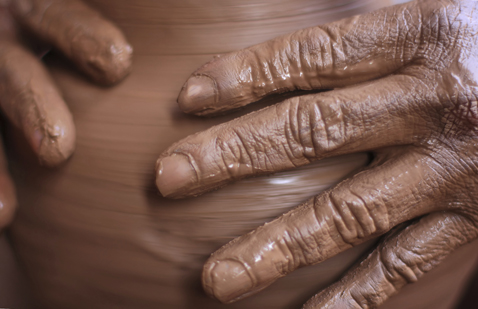 potter's hands photo