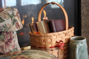 a basket of things I use for God and me time