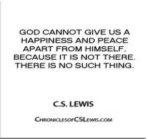C.S. Lewis quote - peace