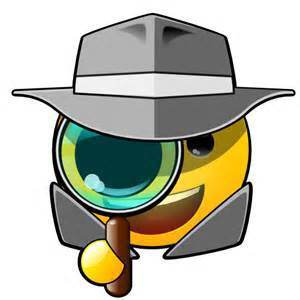 magnifying glass smiley